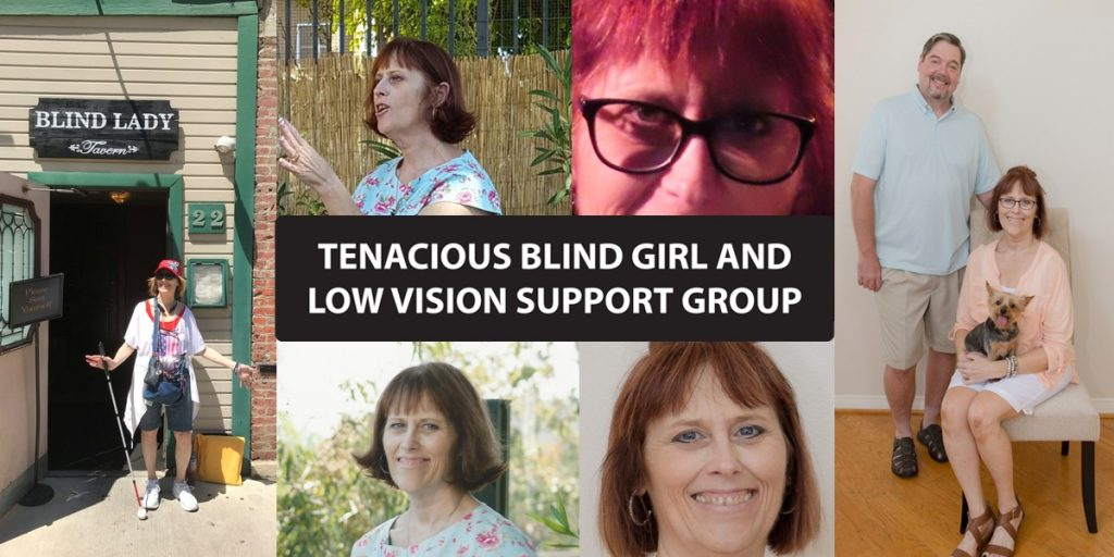 Photo collage of Tenacious Blind Girl
