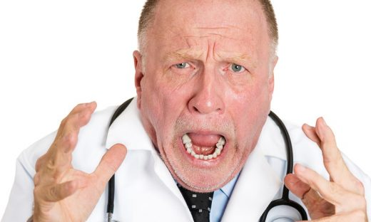 Photo of a raging physician